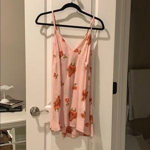 Reformation Pink Floral Dress